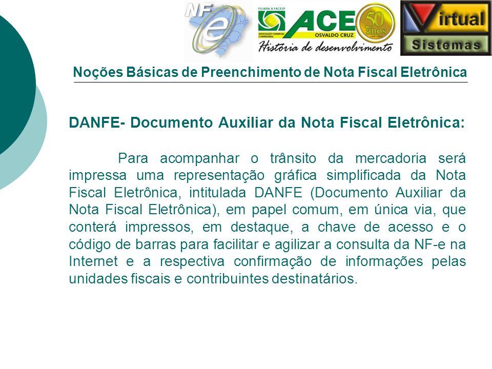 Noções Básicas de Preenchimento de Nota Fiscal Eletrônica