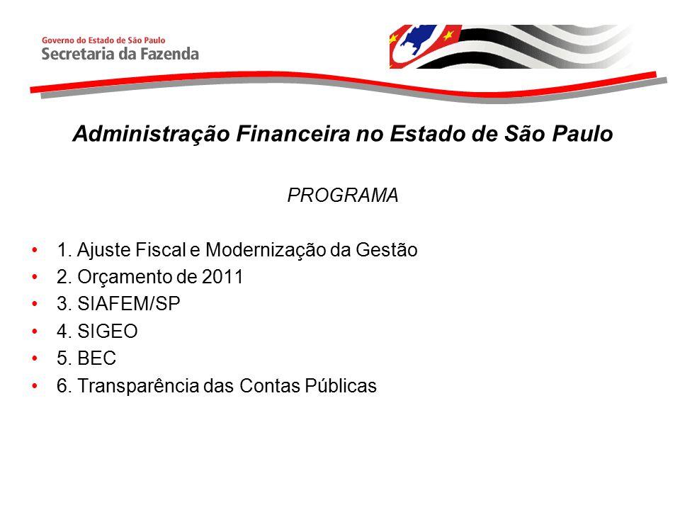 Administração Financeira no Estado de São Paulo