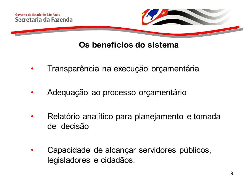 Os benefícios do sistema