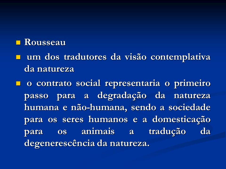 Rousseau um dos tradutores da visão contemplativa da natureza.