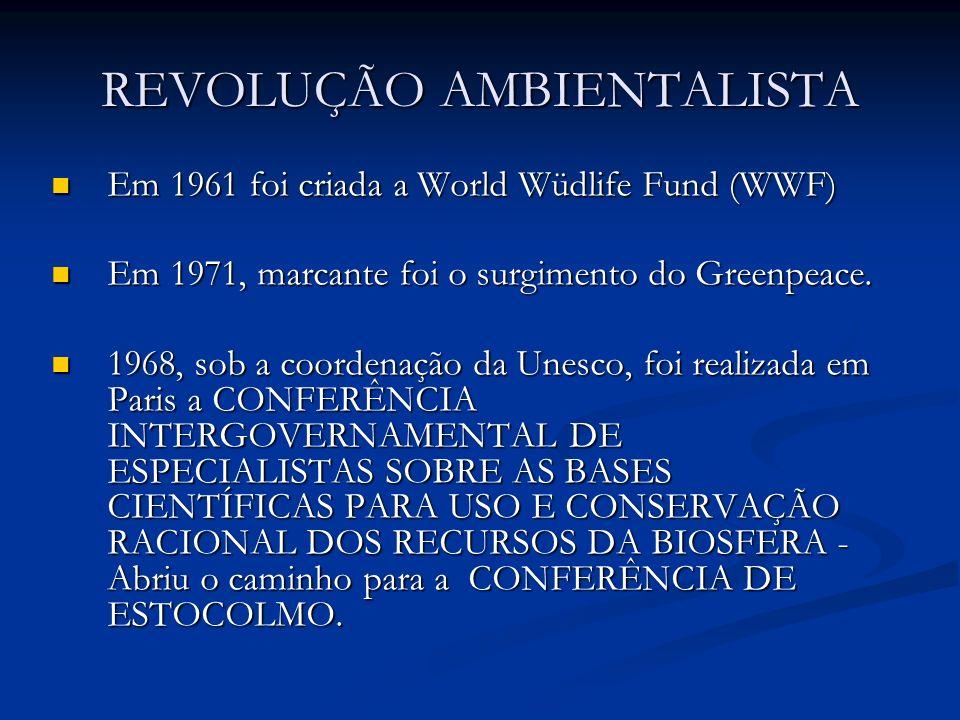REVOLUÇÃO AMBIENTALISTA