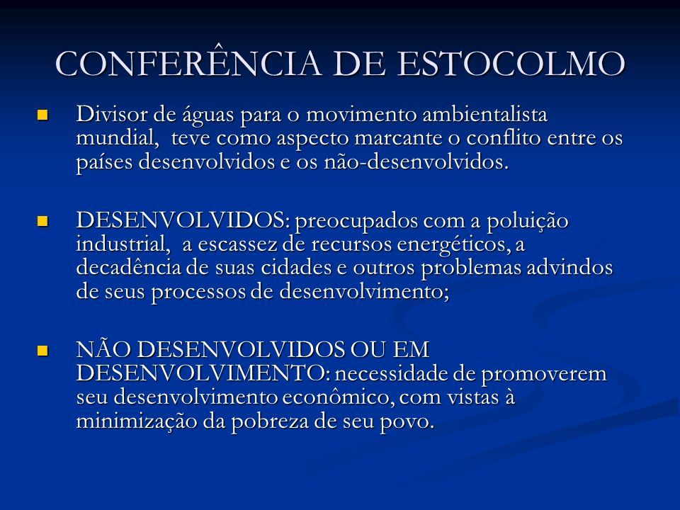 CONFERÊNCIA DE ESTOCOLMO