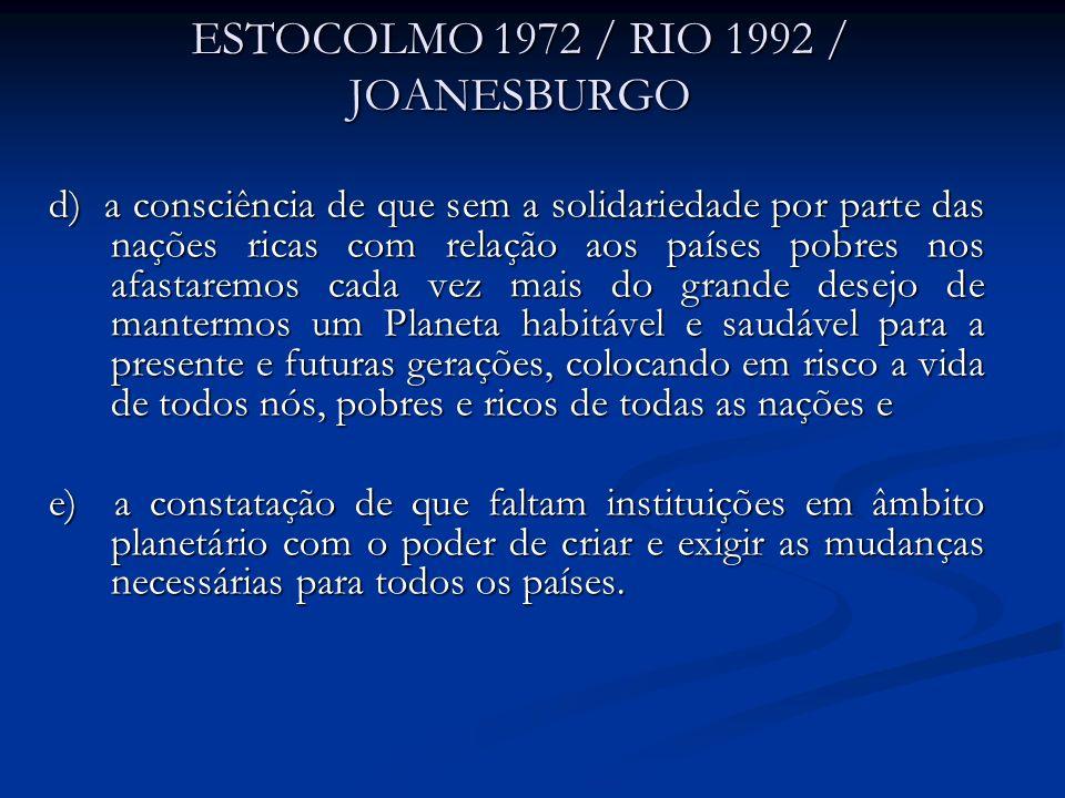 ESTOCOLMO 1972 / RIO 1992 / JOANESBURGO
