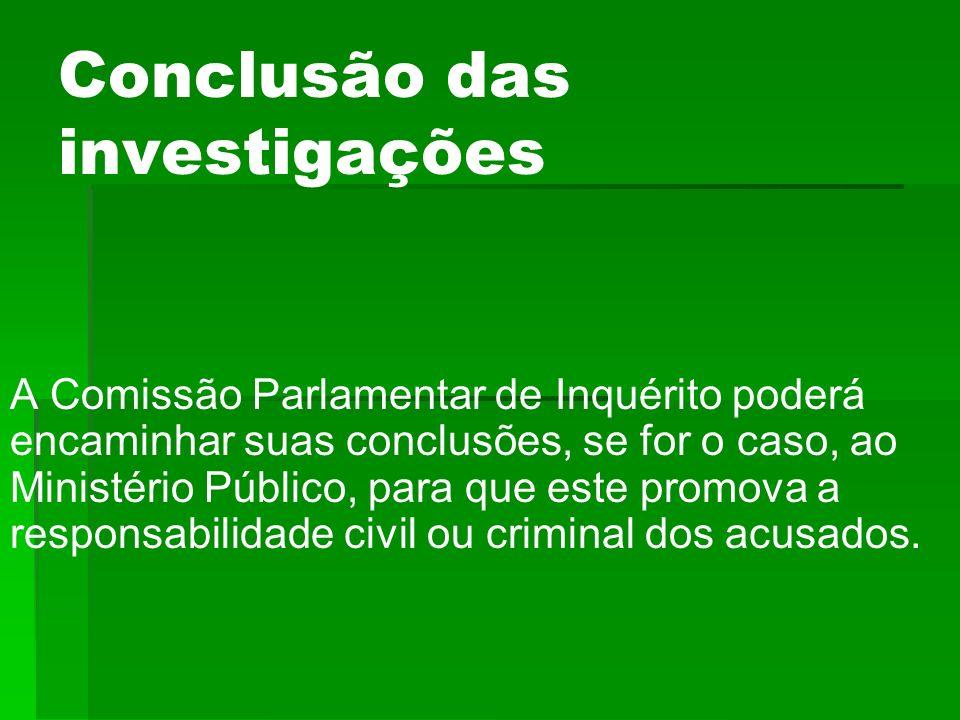 Conclusão das investigações