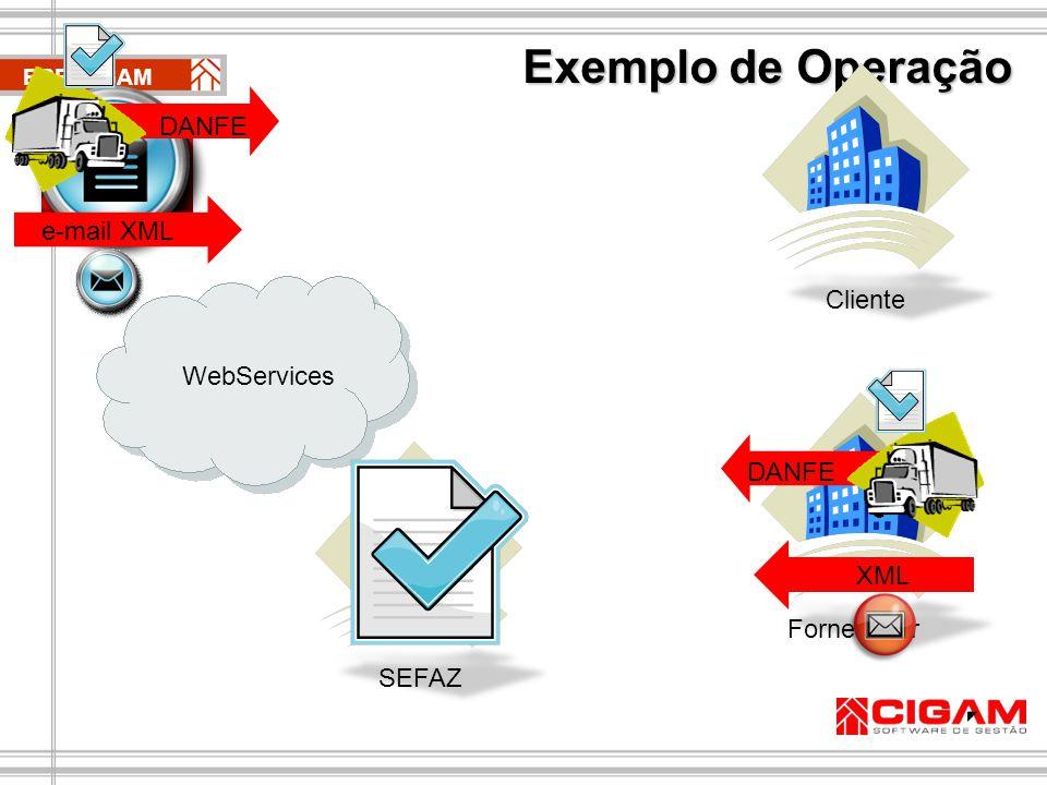Exemplo de Operação DANFE e-mail XML CIGAM e10 Cliente WebServices