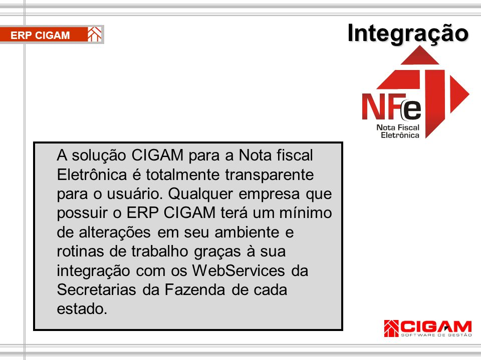 Integração ERP CIGAM.