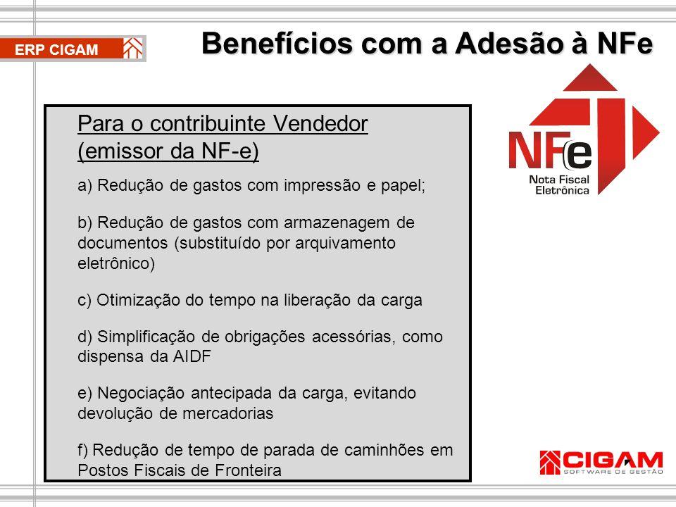 Benefícios com a Adesão à NFe