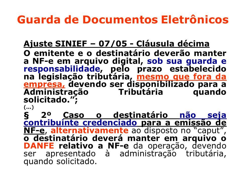 Guarda de Documentos Eletrônicos