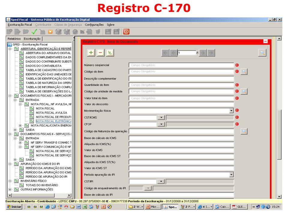 Registro C-170