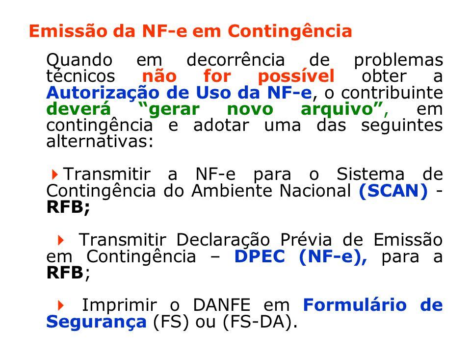 Emissão da NF-e em Contingência