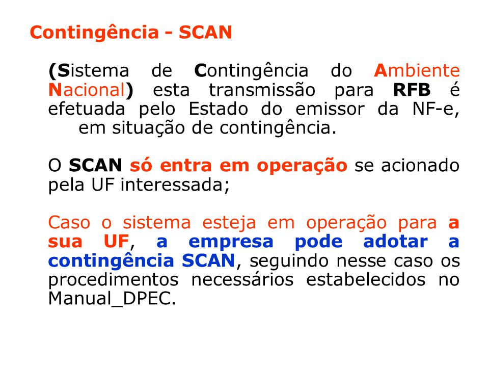 Contingência - SCAN