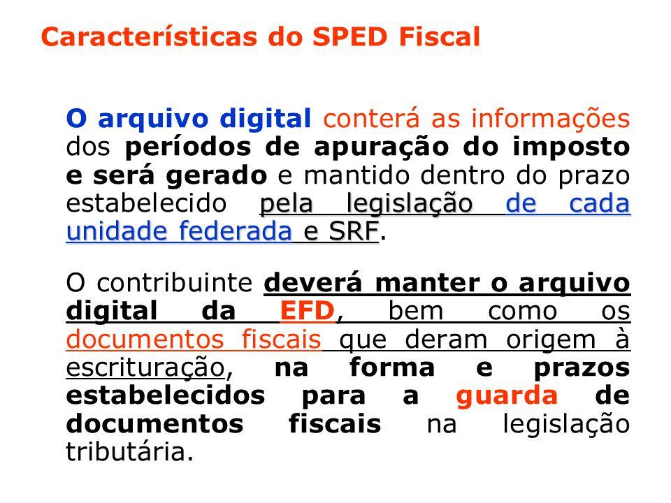 Características do SPED Fiscal