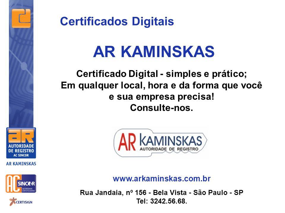 AR KAMINSKAS Certificados Digitais