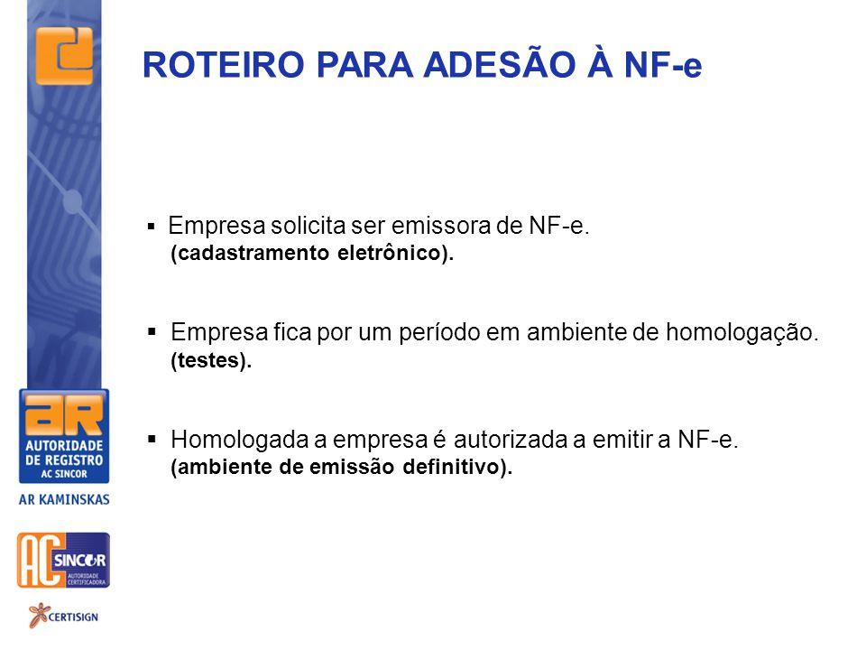 ROTEIRO PARA ADESÃO À NF-e