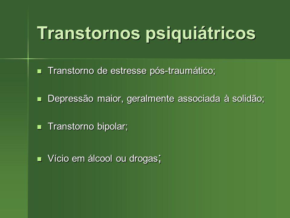 Transtornos psiquiátricos