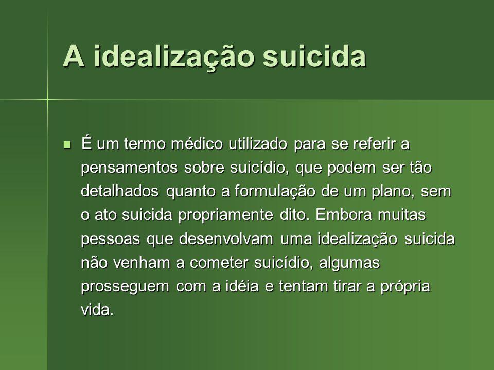 A idealização suicida É um termo médico utilizado para se referir a