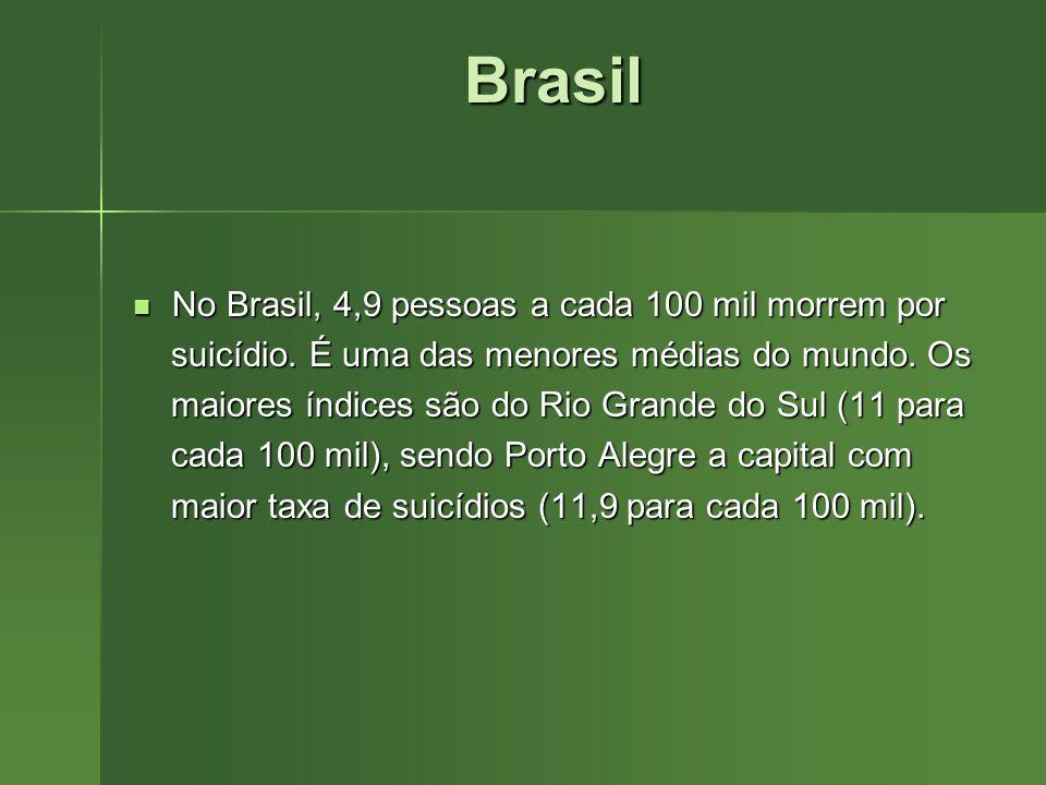Brasil No Brasil, 4,9 pessoas a cada 100 mil morrem por