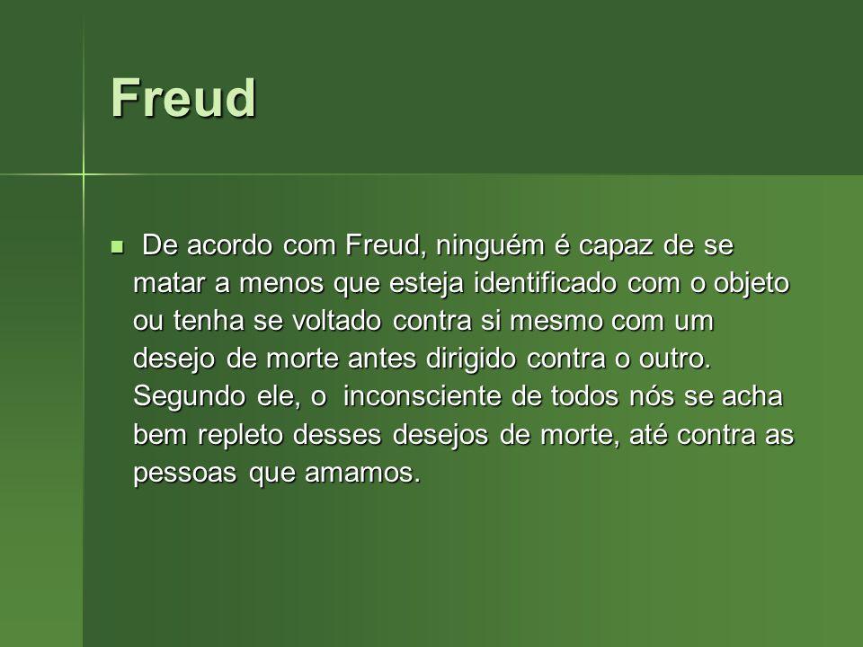 Freud De acordo com Freud, ninguém é capaz de se