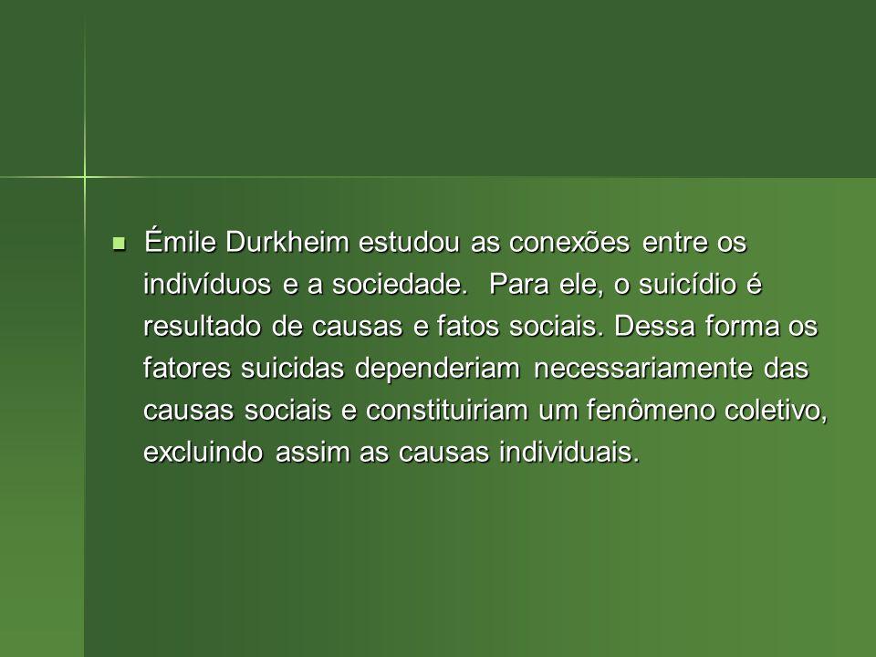 Émile Durkheim estudou as conexões entre os