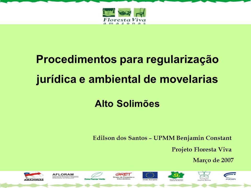 Procedimentos para regularização jurídica e ambiental de movelarias