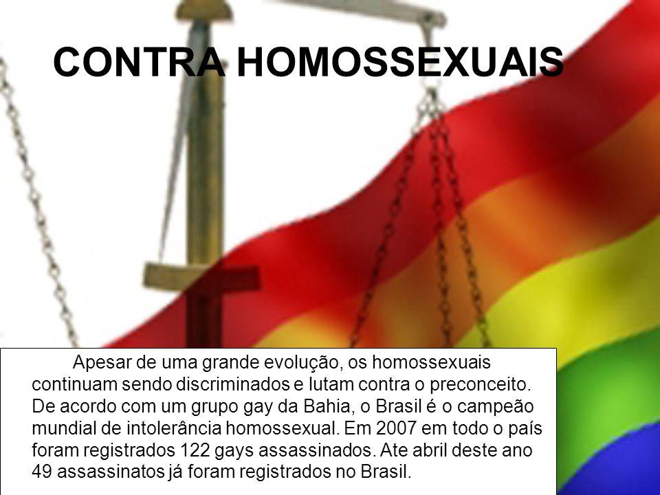 CONTRA HOMOSSEXUAIS