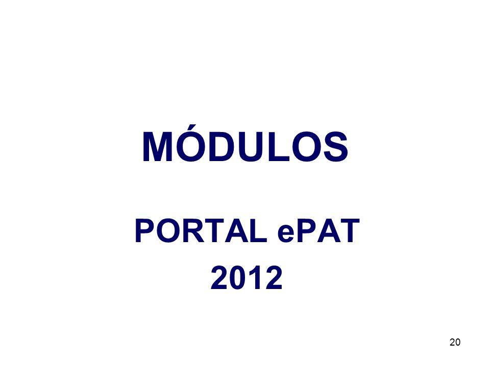 MÓDULOS PORTAL ePAT 2012