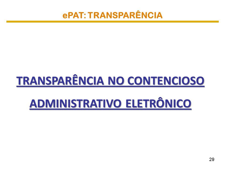 TRANSPARÊNCIA NO CONTENCIOSO ADMINISTRATIVO ELETRÔNICO