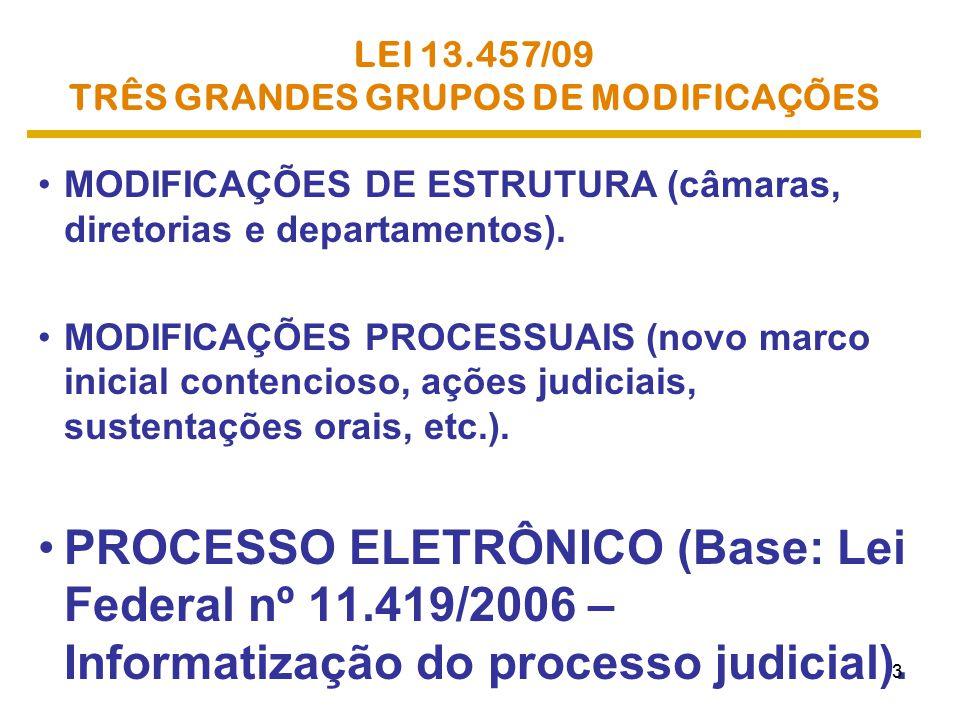 TRÊS GRANDES GRUPOS DE MODIFICAÇÕES