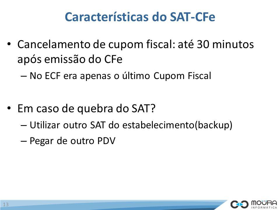 Características do SAT-CFe