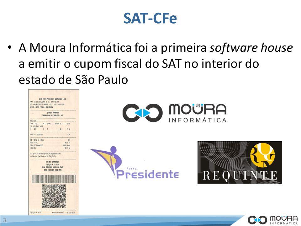 SAT-CFe A Moura Informática foi a primeira software house a emitir o cupom fiscal do SAT no interior do estado de São Paulo.