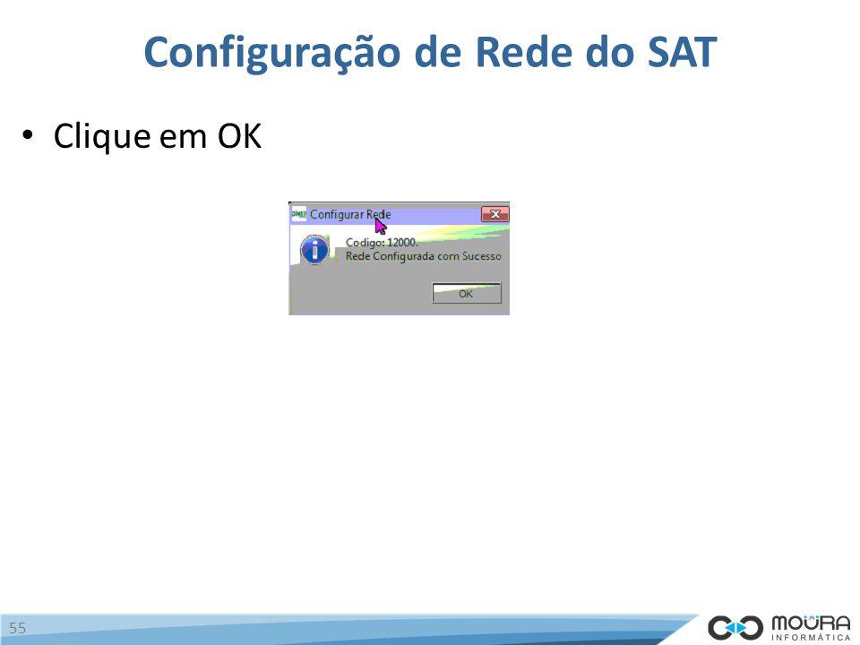 Configuração de Rede do SAT