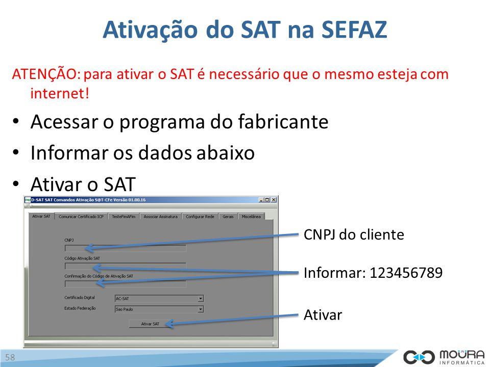 Ativação do SAT na SEFAZ