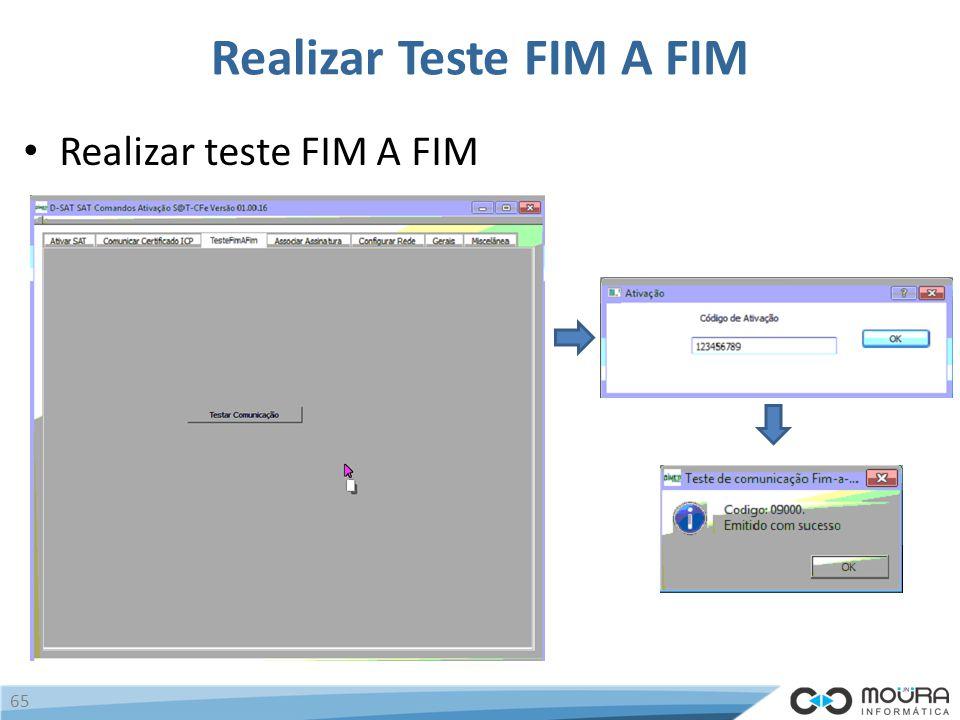 Realizar Teste FIM A FIM