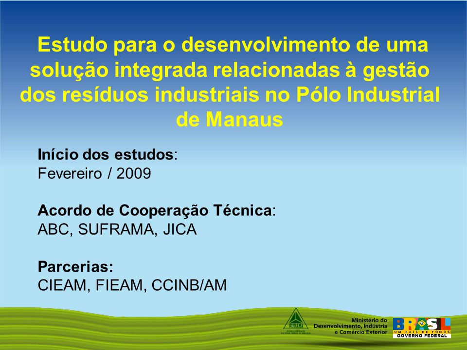 Estudo para o desenvolvimento de uma solução integrada relacionadas à gestão dos resíduos industriais no Pólo Industrial de Manaus