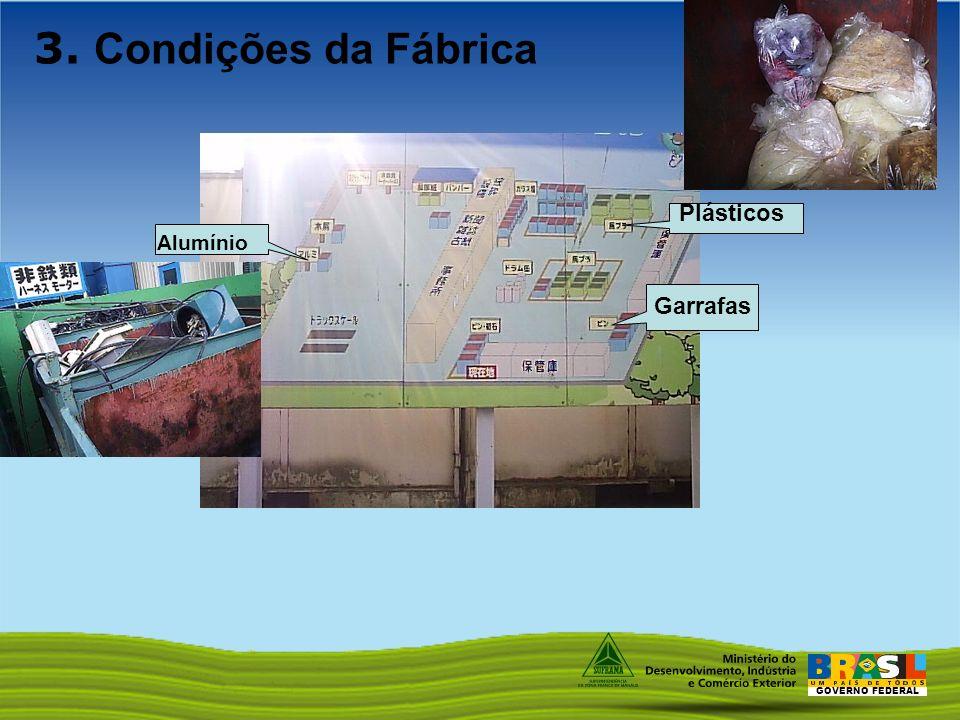 3. Condições da Fábrica Plásticos Alumínio Garrafas