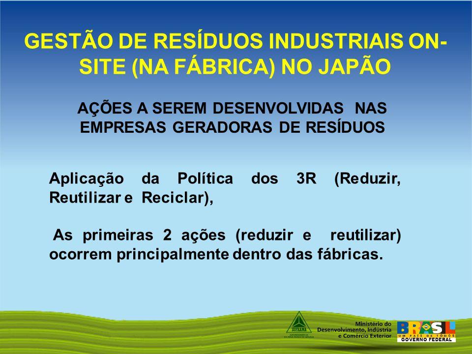 GESTÃO DE RESÍDUOS INDUSTRIAIS ON-SITE (NA FÁBRICA) NO JAPÃO