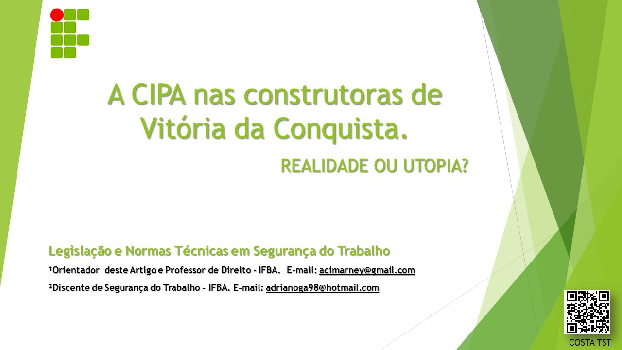 A CIPA nas construtoras de Vitória da Conquista.