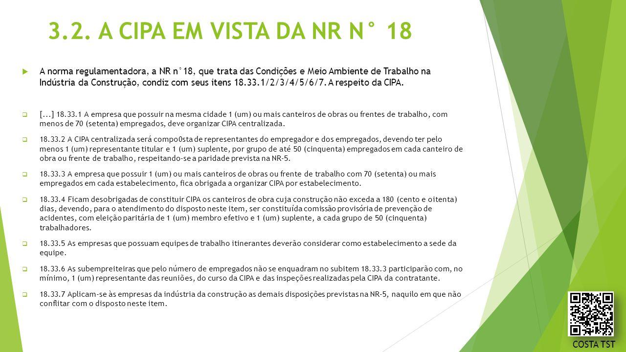 3.2. A CIPA EM VISTA DA NR N° 18