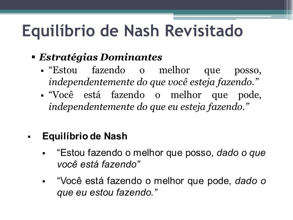 Equilíbrio de Nash Revisitado