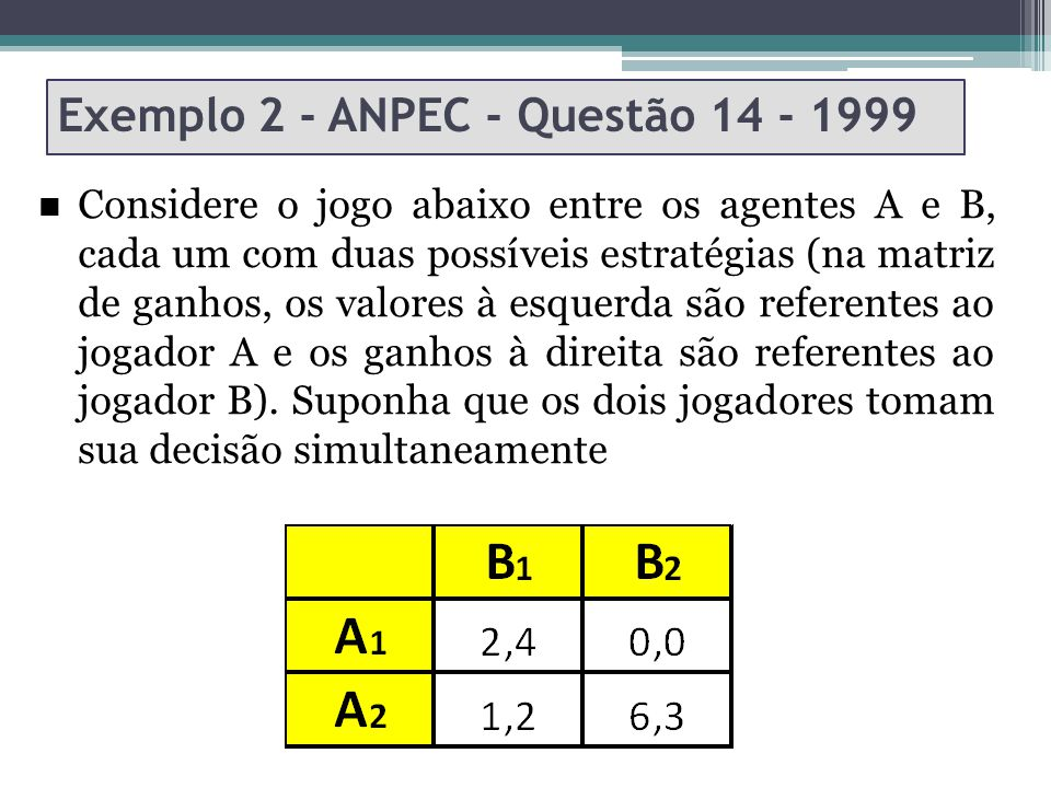 Exemplo 2 - ANPEC - Questão 14 - 1999