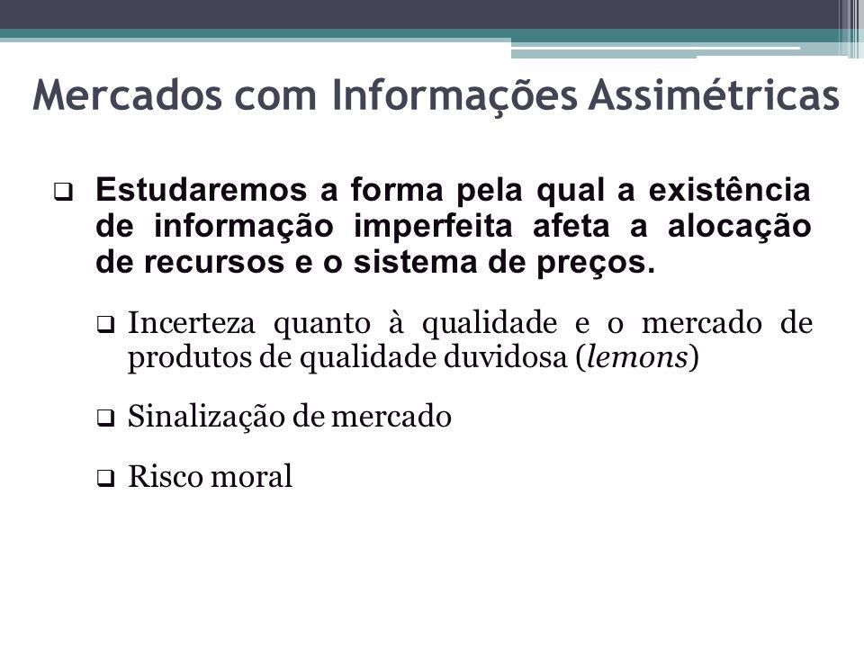 Mercados com Informações Assimétricas