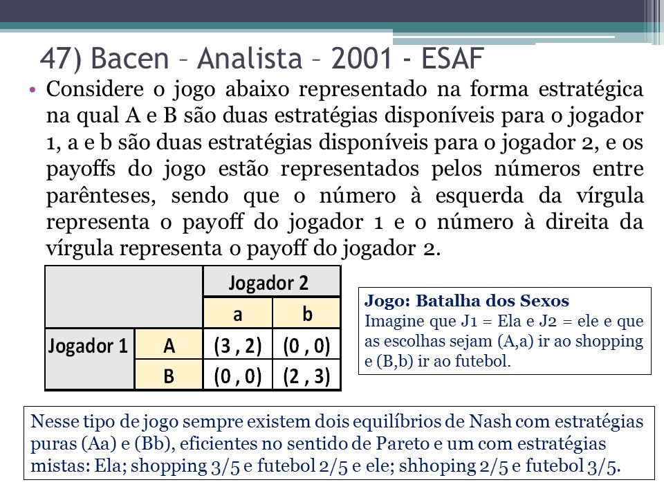 47) Bacen – Analista – 2001 - ESAF