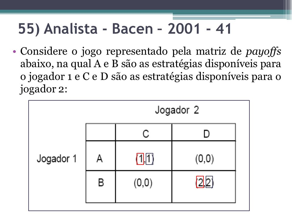 55) Analista - Bacen – 2001 - 41