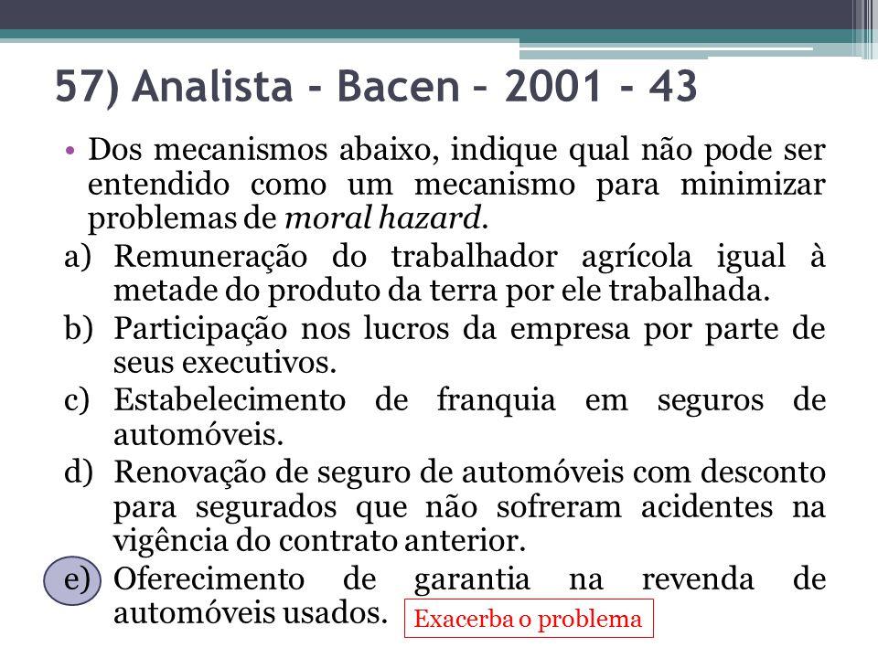 57) Analista - Bacen – 2001 - 43