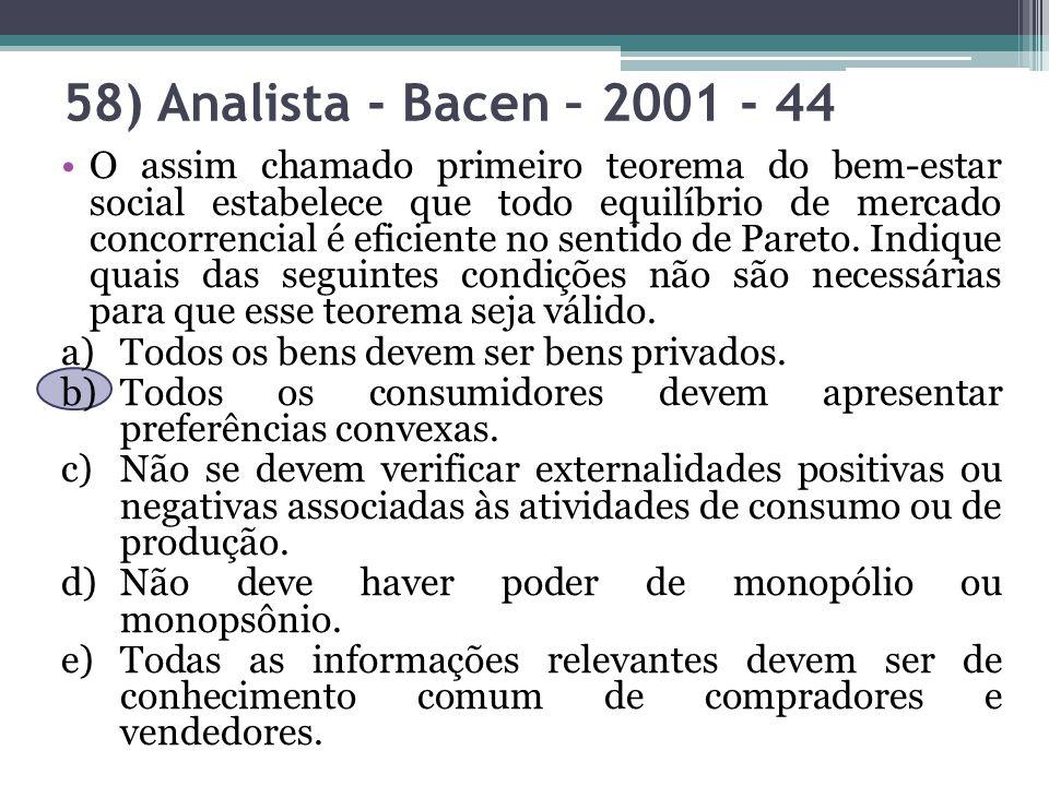 58) Analista - Bacen – 2001 - 44