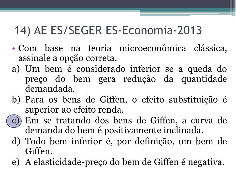 14) AE ES/SEGER ES-Economia-2013
