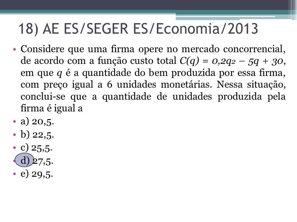 18) AE ES/SEGER ES/Economia/2013