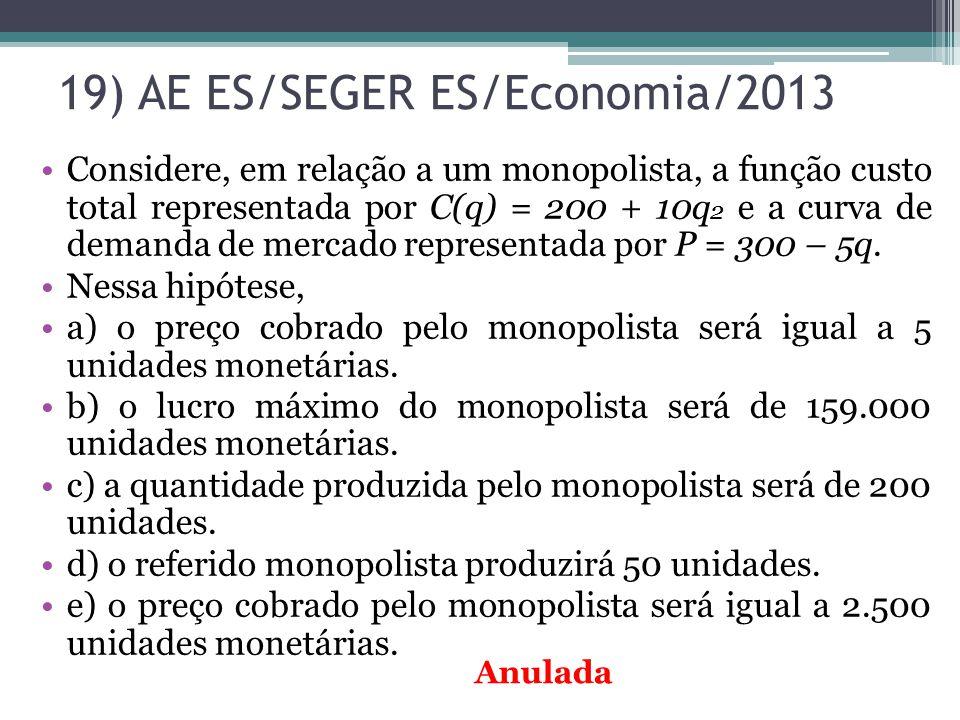 19) AE ES/SEGER ES/Economia/2013