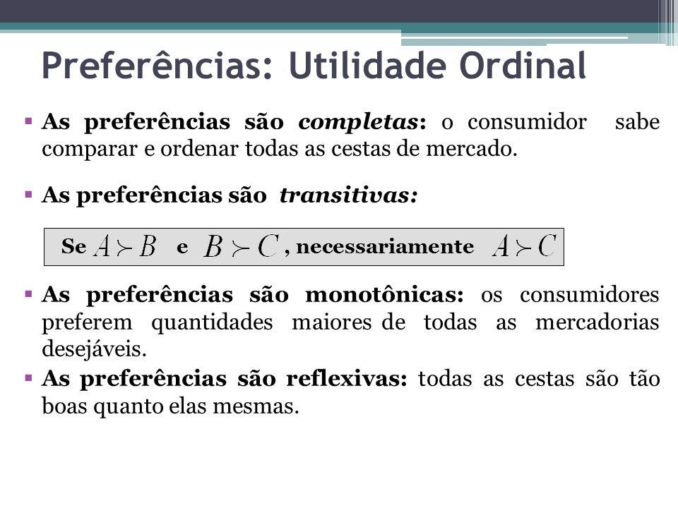 Preferências: Utilidade Ordinal