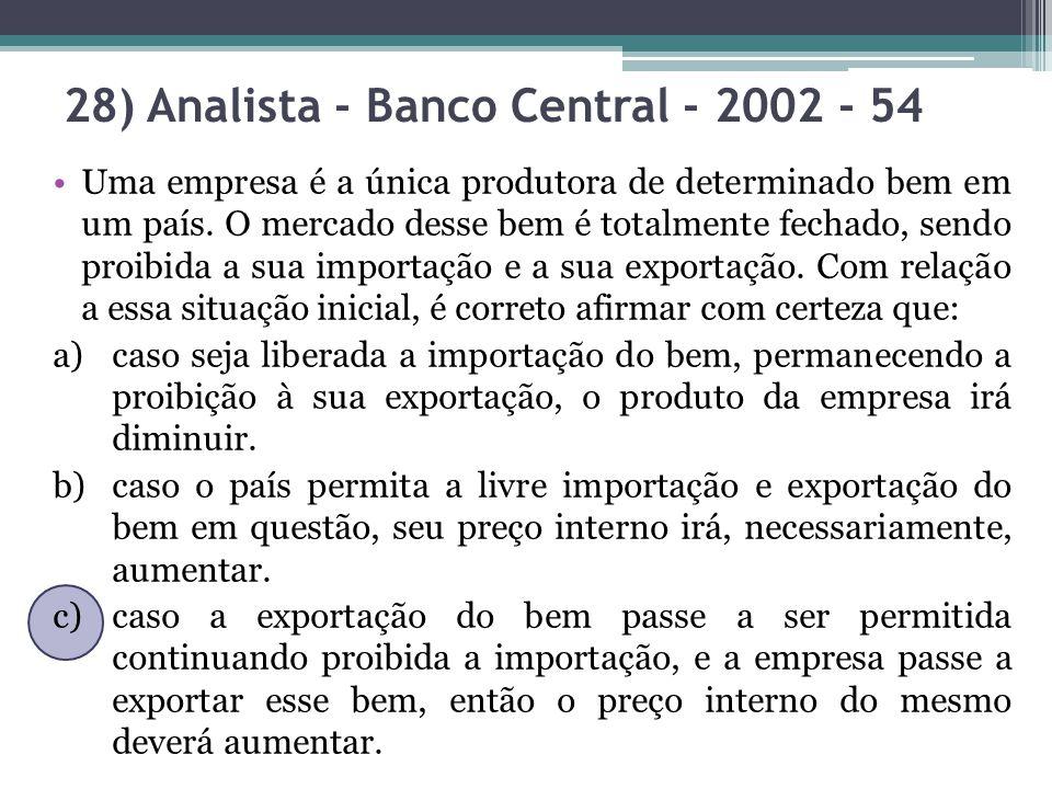 28) Analista - Banco Central - 2002 - 54